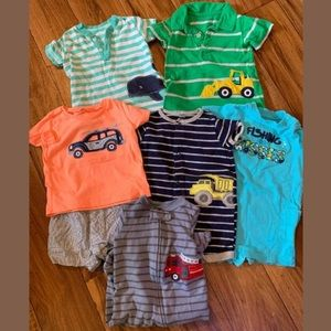 *Baby Boys 6 Months Lot Carters Romper Outfits